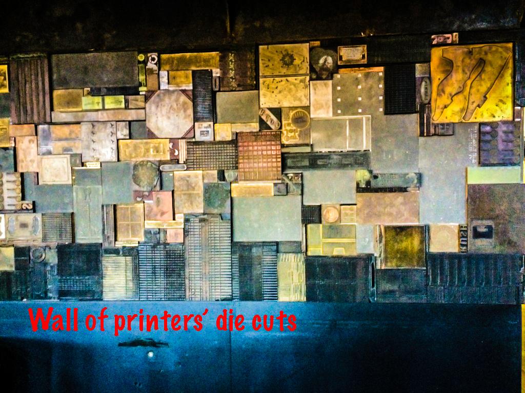 Wall of die cuts